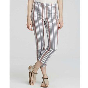 Free People Stripe Mod Linen Blend Trouser Pant